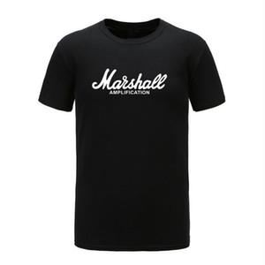 de alta qualidade New Marshall Camiseta Logo Amps Amplification Guitar Hero Hard Rock Cafe Música Muse Tops T-shirt para homens Moda T-shirt