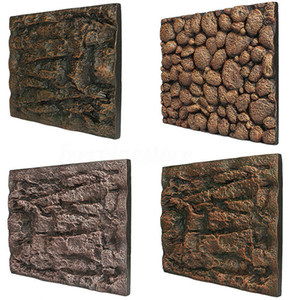 60 x 45 x 3cm Aquarium Espuma Rocha Fundo de pedra Fish Tank 3D Wall ReptileTerrarium Vivarium