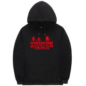 Sweatshirts Pullover Long Sleeve Letter Print Homme Clothing Fashion Style Casual Apparel Stranger Things Hoodies Mens Autumn Desinger