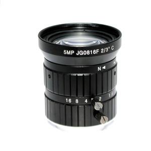 """HD 5MP 8 мм CCTV камеры объектива F1.6 Диафрагма 2/3"""" Формат изображения Mount C Промышленная безопасность дорожного контроля"""