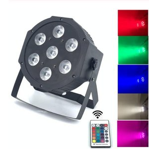 Kablosuz Uzaktan Kumanda LED 8 dmx Kanalları Daire Par 7x12W RGBW 4IN1 Hızlı Kargo aydınlatma par dj ışıkları Led parlağa