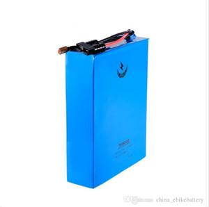 China libre de alta potencia con 60A BMS 72v batería de litio 35AH 18650 baterías para 3000W 3KW motor + 4A cargador