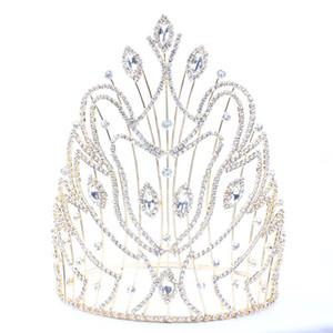 Cabeça para Crown casamento da noiva Tiaras e jóias cabelo Crowns Rainha cabelo casamento Rei Diadema mantilha Prom Ornamentos nupcial JCI102