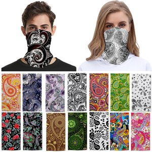 Paisley Bandanas Scarves Multifunctional Sport Cycling Masks Scarf Magic turban Sunscreen Hair band Riding Cap Outdoor Party Mask