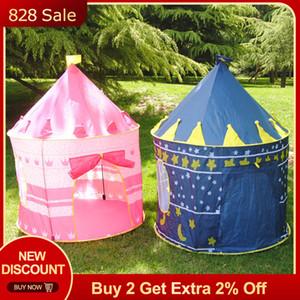 Tente de bébé filles pour enfants Tente Château Château Chambre tente Maison Enfants Meubles jouer jouets Piscine Tipi Wigwam pour enfants Jouets pour enfants SH190907