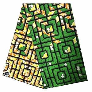 stampa tessuto africano di alta qualità 2020 di cera del tessuto africano della cera Blesing cotone 100% il tessuto della stampa per i vestiti tessuto africano T200529