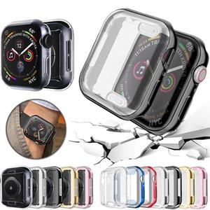 애플 시계 케이스 5 4 3 2 1 42MM iWatch 4 38MM 소프트 클리어 TPU 화면 보호기 3 44MM 40MM 360 전체 슬림 시계 커버