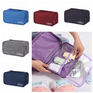 Sous-vêtements Soutien-gorge portable sac de rangement Chaussettes de voyage imperméable cosmétiques Drawer Organizer Armoire Vêtements Closet Pochette CCA11860-C 100pcs