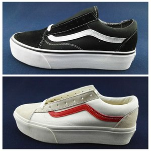Nova plataforma de Van Estilo 36 Black White Suede Grosso Old Skool Mulheres clássico calçados casuais Skate lona Esportes sapatilhas Tamanho 36-39