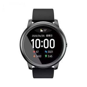 Оригинал Haylou Solar LS05 Смарт часы металла спорта круглый корпус сердечного ритма сна монитор IP68 водонепроницаемый 30 день батареи IOS Android 2021DHL