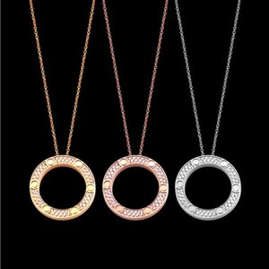 Necklaces foreign trade nail full diamond ring necklace