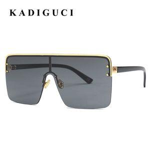 KADIGUCI Oversize Women Big Square Sunglasses INS Popular Retro Men Shades Shade for Women Frame Gradient Lens UV400 K389