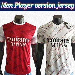 Player versión Gunner 2020 casa camiseta de fútbol roja 20/21 Hombres artillero de distancia de fútbol blanco de manga corta camiseta de fútbol modificado para requisitos particulares En rebajas