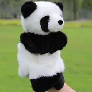 Hayvan El Puppets Panda Dolması Bebek Peluş Mutlu Aile Eğlence Parmak Çocuk Öğrenme Eğitim Oyuncak