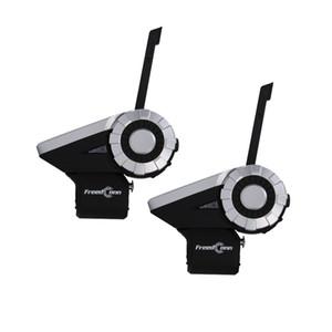 (Doble embalaje) FreedConn T-Rex de la motocicleta Grupo Intercom Bluetooth Headset Casco 1500M 8 corredores inalámbrica L3 Kit +