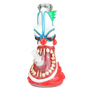 """Painting 3D Bong Glass Water Pipe 7mm Thick 12.5"""" Tall Beaker Bong Ice Catcher Dab Oil Rigs Bowl Downstem Glass Bongs"""
