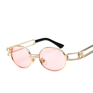 New Round Metal Steampunk Sunglasses Uomo Donna Fashion Occhiali Brand Designer Unisex Retro Vintage Occhiali da sole all'ingrosso 887