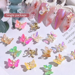 3D Butterfly Nail Art Decorations Charm Pixie Ornaments Nail Polish DIY Japanese Style Manicure Design Accessories Nails Wholesale