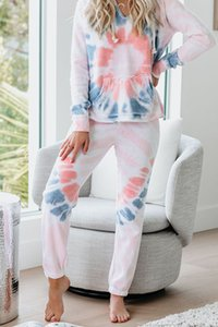 Top Quality For Pajamas Tiedye For Female Pyjama Korte Sets Met Ronde Hals En Tie-Dye Tie And Dye Shirts Dark Magnet sweet07 doJLG
