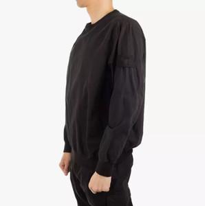 TOPSTONEY 20SS Nova Primavera e no Outono série fantasma de homens e casuais camisola das mulheres versátil Round Top fundos de tendência colar Moda