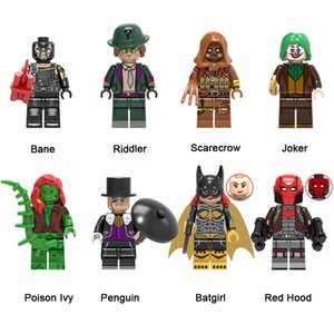 Super Hero Building Blocks Bane Riddler Scarecrow Joker Poison Ivy Penguin Batgirl Red Hood Mini Action Figure Toy