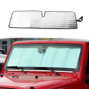 Parabrisas Parasol Parasol escudo térmico parasol Mat para Jeep Wrangler Rubicon Sahara TJ JK JKU 2 Puerta 4 Puerta