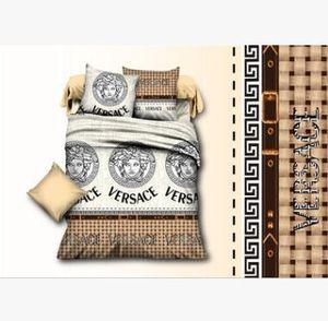 il cotone di alta qualità 4 pezzi Biancheria da letto di gruppo di fogli Copertine federa Biancheria da letto da Letto accessori per la casa della regina