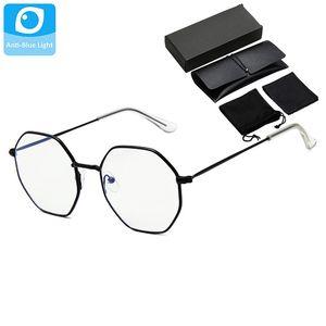 Metal Frame Female Anti-blue Light Vintage Eyewear Kit Women Retro Eye Glasses Set Men Clear Lens Eyepiece Unisex Shades Male