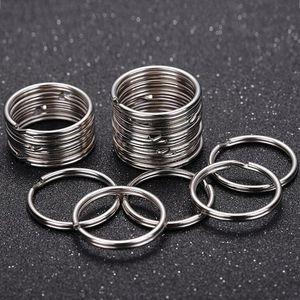25mm Schlüsselringe Silber DIY Schmuckhandgemachte Fertigkeit Schmuck Zubehör Komponenten