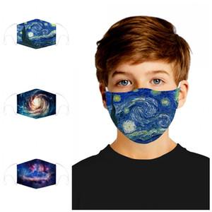 Doppia faccia del filtro protegge la mascherina digitale Stampa M forma del naso della clip anti Spittle Splash antipolvere Bocca muffola respiratore Mascherine 12 9md E1