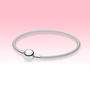 Women Sterling silver Mesh Bracelet bangle Bracelets Summer Jewelry for Pandora Ball Clasp Bracelets with Original box sets
