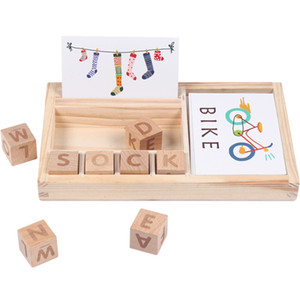 Candywood Holzwortspiel, Gebäude blocksgiocattoli pro ba Kinder pädagogisches Spielzeug, Kinder-Bildungs-Spielzeug, Holzspielzeug Montessori
