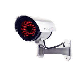 ALK 1 UNID Cámara Falsa Falsa Batería Seca Alimentada 30 unids LED Reales Cámara CCTV Cámara de Vigilancia Exterior Seguridad para el Hogar Cámara Falsa Bullet