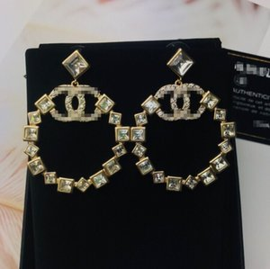 Hot women Round diamond Earring 2020 new Exquisite design high quality with box Hot sell fashion beautiful luxury free shipping 070419