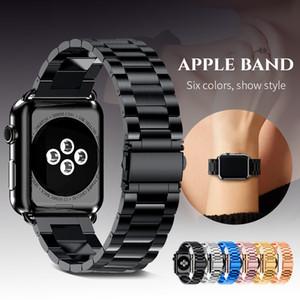 Paslanmaz Çelik Kayış İçin Elma İzle 42mm 38mm Serisi 3 2 1 Metal Watchband Üç Bağlantı Bilezik Band iWatch Serisi 4 5 Boyut 40mm 44mm için