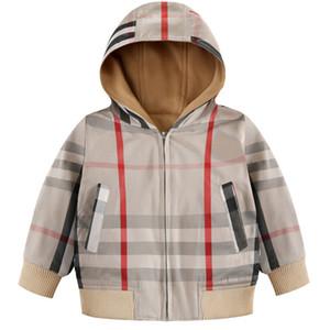 Kid Дизайнерские Куртки Роскошные Британские Стили Мальчики Тонкие Пальто Классический Плед Шаблон Девушки Ветровка 2019 Горячие Высочайшее Качество Дети Топ Кофты