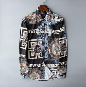 2019 nuevo diseñador de la marca de Europa y América del ocio tamaño de la camisa del negocio de los hombres s-3xl- libre del envío - recepción para comprar -A4