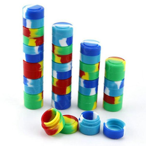 모듬 된 색상 라운드 실리콘 왁스 소량 컨테이너 비 스틱 왁스 오일 멀티를 사용하여 저장 항아리 2ml를 3ml를 5ml를 7ml 10ml의 소량 밀짚 농축 상자