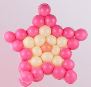 100pcs cinq étoiles en forme de maille ballon de fête en forme de grille des grilles de mariage fête d'anniversaire fond décoration murale