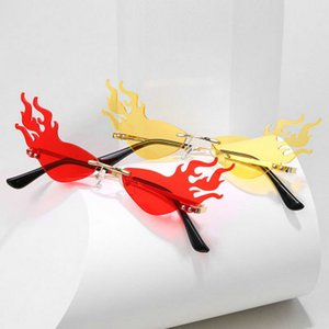 firewave sunglasses New 2020 Fashion Fire Flame Sunglasses Women Men Rimless Wave Sun firewave sunglasses cuw6z sweet07 EWIyY