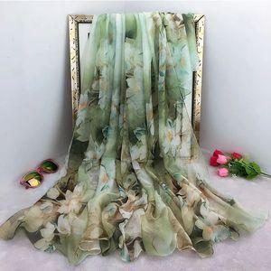 Oversize-Sommer-Frauen Silk Pareo Foulard Schal Schal Damen Strand-Schal Bandana Große Hijab Foulard Muffel