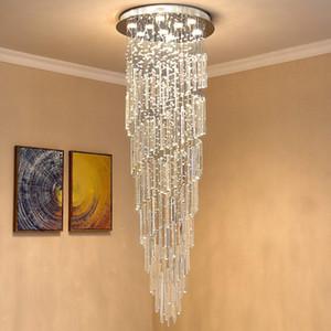 Moderna K9 Spral Raindrop Lampadario Illuminazione a filo per montaggio a soffitto LED della lampada del dispositivo di pendente della luce per il pranzo Camera da letto Soggiorno