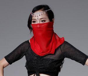 Femmes Veil Red Face standard Costumes de danse du ventre en Inde Danse Outfit Halloween Carnaval Solide Violet Blanc Noir Bleu