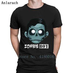 Zombie-Jungen-T-Shirt Familie Cotton Frühling und Herbst lose Comical Printed-Rundhalsausschnitt-Ausstattungs-Hemd