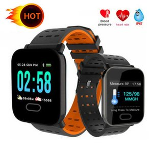 A6 Wristband Touch Screen Water Resistant Mens Smartwatch Phone with Heart Rate Smart Bracelet Monitor Sport Running Smart Watch