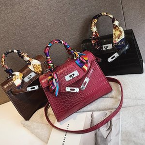 2019 Sacs de Crossbody pour les femmes en cuir de luxe Sac à main Marque Bolsa Feminina Crocodile Sac à bandoulière Sac dames principal