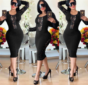 Lace Panelled Womens Casual Dresses Sexy Slim Floral Lace Panelled Womens Designer Dresses Casual Females Clothing