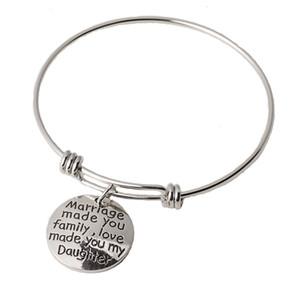 Paslanmaz Çelik El Süsleme Aile Aile Sevgi Serisi Aşk Yazı Bilezik Fonu Bilezik