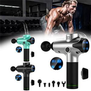 Muskel-Massage-Gewehr 20 Geschwindigkeit Deep Tissue Massagetherapie Fascia Massage Gun Fitnesstraining Sport Schmerzlinderung Körpertraining mit 6 Heads EM03
