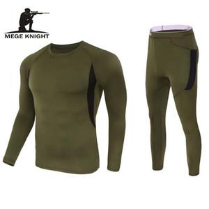 Mège Marque Vêtements tactique Fleece Sous-vêtements thermiques Séchage rapide Vêtements de plein air Hommes militaire Respirant Compression uniforme T191223